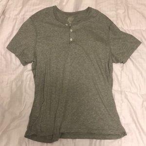 Gray J. Crew Men's Short Sleeve Buttoned Shirt XL
